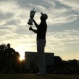 Justin Rose celebrates as he wins the 2013 US Open at Merion Golf Club
