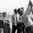 Arnold Palmer after a golf shot